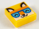 Part No: 3070bpb205  Name: Tile 1 x 1 with Groove with Orange Fox Head and Medium Azure Glasses Pattern