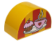 Part No: 31213pb028  Name: Duplo, Brick 2 x 4 x 2 Curved Top with Coffee Cup with Heart and Cupcake on Plate Pattern