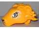 Part No: 35599pb01  Name: Lion Head With Eyes and White Swirls Pattern