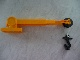 Part No: 40633c02  Name: Duplo Crane Telescoping Boom Assembly with Black Hook, White String, and Black Winch Drum