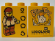 Part No: 4066pb209  Name: Duplo, Brick 1 x 2 x 2 with Halloween 2005 Brick or Treat Pattern (Legoland Logo)