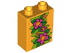 Part No: 4066pb296  Name: Duplo, Brick 1 x 2 x 2 with Large Flowers and Leaves Pattern (Ivy)