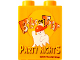 Part No: 4066pb359  Name: Duplo, Brick 1 x 2 x 2 with Halloween 2009 Brick or Treat Party Nights Pattern