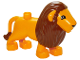 Part No: 4325c01pb02  Name: Duplo Lion Adult Male Second Version with Immobile Head, Eyes Top Semicircular Pattern