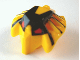 Part No: 57579pb01  Name: Minifigure, Head Modified Bionicle Toa Mahri Hewkii / Jaller with Red Eyes Pattern (Hewki)