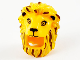 Part No: 68517pb01  Name: Minifigure, Headgear Head Cover, Costume Mask Lion with Reddish Brown and Gold Mane Highlights and Black Facial Features Pattern