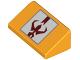 Part No: 85984pb203  Name: Slope 30 1 x 2 x 2/3 with Dark Red Mandalorian Mythosaur Skull on White Square with Silver Border Pattern (BrickHeadz Boba Fett Shoulder Armor)