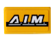Part No: 85984pb253  Name: Slope 30 1 x 2 x 2/3 with 'A.I.M.' Pattern (Sticker) - Set 76143