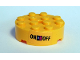 Part No: 87081pb003  Name: Brick, Round 4 x 4 with Hole with 'ON' and 'OFF' Switch Pattern (Sticker) - Set 41346