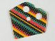 Part No: 90542pb04  Name: Minifigure, Poncho Half Cloth with Coral, Green and Black Pattern