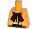 Part No: 973pb1612  Name: Torso Female Open Herringbone Jacket, Dark Red Bow Tie Scarf, Black Belt with Gold Buckle Pattern