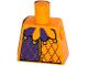 Part No: 973pb1772  Name: Torso Purple and Bright Light Orange Jester Collar Pattern