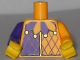 Part No: 973pb1772c01  Name: Torso Purple and Bright Light Orange Jester Collar Pattern / Bright Light Orange Arm Left / Dark Purple Arm Right / Yellow Hands