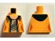 Part No: 973pb2206  Name: Torso Female Jacket Open with Dark Blue Hood over Light Bluish Gray Shirt and Light Nougat Neck Pattern