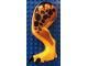 Part No: 98061c01pb07  Name: Dino Leg Large (Rear) Tyrannosaurus rex with Pin, Black Claws and Black Spots on Dark Orange Pattern - Left