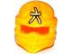 Part No: 98133pb09  Name: Minifigure, Headgear Ninjago Wrap with Bright Light Yellow Ninjago Logogram 'Amber' Pattern (Skylor)