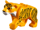 Part No: bb0787c01pb03  Name: Cat, Large (Tiger) with White Muzzle and Black Nose and Stripes Pattern