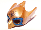 Part No: 12549pb02  Name: Minifigure, Headgear Mask Bird (Eagle) with Yellow Beak and Blue Eye Circles Pattern