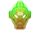 Part No: 19061pb01  Name: Bionicle Mask of Jungle with Marbled Trans-Bright Green Pattern