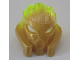 Part No: 24157pb02  Name: Bionicle Mask of Stone (Unity) with Marbled Trans-Neon Green Pattern