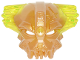 Part No: 25532pb01  Name: Bionicle Mask of Control with Marbled Trans-Neon Green Pattern