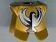 Part No: 2587pb14  Name: Minifigure, Armor Breastplate with Leg Protection, King Jayko Silver & Black Hawk Pattern