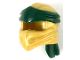 Part No: 40925pb01  Name: Minifigure, Headgear Ninjago Wrap Type 4 with Dark Green Headband Pattern