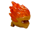 Part No: 41163pb01  Name: Minifigure, Headgear Ninjago Wrap Type 5 with Trans-Orange Energy Effect Pattern