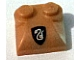 Part No: 47457pb06  Name: Brick, Modified 2 x 2 x 2/3 Two Studs, Curved Slope End with Slytherin Pattern (Sticker) - Set 5378