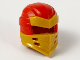 Part No: 66953pb04  Name: Minifigure, Headgear Ninjago Wrap Type 7 with 4 Slits on Front and Red Fabric Pattern