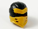Part No: 66953pb05  Name: Minifigure, Headgear Ninjago Wrap Type 7 with 4 Slits on Front and Black Fabric Pattern