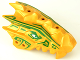 Part No: 93071pb03  Name: Dragon Head (Ninjago) Upper Jaw Spiny with Dark Green Stripes Pattern