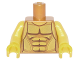 Part No: 973pb2210c01  Name: Torso Armor with Gold Plated Muscles Outline Pattern (Flying Warrior) / Yellow Arms / Yellow Hands