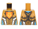Part No: 973pb2242  Name: Torso Nexo Knights Armor with Orange Emblem with King Pattern