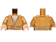 Part No: 973pb2926c01  Name: Torso SW Robe with Belt and Bare Chest with Wrinkles Pattern (Supreme Leader Snoke) / Pearl Gold Arms / Light Nougat Hands