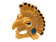 Part No: 99243pb01  Name: Minifigure, Headgear Headdress Aztec Bird with Black Feather Tips and Medium Azure Eyes and Cheeks Pattern