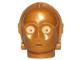 Part No: x134pb01  Name: Minifigure, Head Modified SW C-3PO / K-3PO Protocol Droid with Yellow Eyes Pattern