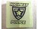 Part No: BA091pb01  Name: Stickered Assembly 2 x 2 with Police Badge and 'HIGHWAY POLICE' Pattern (Sticker) - Set 8152 - 2 Tile 1 x 2
