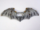 Part No: 20273a  Name: Minifigure Wings Batman Space Extended with Center Opening and Black and Gold Pattern