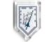 Part No: 22385pb116  Name: Tile, Modified 2 x 3 Pentagonal with Nexo Power Shield Pattern - Triple Trouble