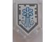 Part No: 22385pb136  Name: Tile, Modified 2 x 3 Pentagonal with Nexo Power Shield Pattern - Arctic Breath