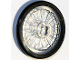 Part No: 24314c01  Name: Wheel Wheelchair with Fixed Black Hard Rubber Tire (1-Piece Wheel)