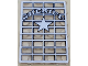 Part No: 2494pb05  Name: Glass for Window 1 x 4 x 5 with Sheriff Pattern (Sticker) - Sets 6755 / 6764