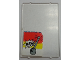 Part No: 2494pb17  Name: Glass for Window 1 x 4 x 5 with Light Gray Lever and Base and Black 'NEW' Pattern (Sticker) - Set 6378