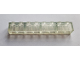 Part No: 3008f2  Name: Brick 1 x 8 Transparent with Frosted Vertical Lines