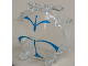 Part No: 30366px1  Name: Windscreen 3 x 6 x 5 Bubble with SW Blue Forcefield Pattern
