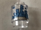 Part No: 3062bpb057  Name: Brick, Round 1 x 1 Open Stud with Medium Blue and Gold Kandor Skyline Pattern