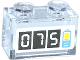 Part No: 3065pb03  Name: Brick 1 x 2 without Bottom Tube with '075' and Battery Charge Pattern (Sticker) - Set 41091