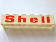 Part No: 3067pb03  Name: Brick 1 x 6 without Bottom Tubes with Red 'Shell' on White Background Pattern