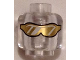Part No: 3626cpb1347  Name: Minifigure, Head Glasses with Gold Sunglasses with Reflective Lines Pattern - Hollow Stud